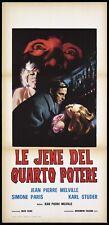 LE JENE DEL QUARTO POTERE LOCANDINA CINEMA JEAN-PIERRE MELVILLE PLAYBILL POSTER