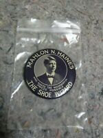 Vintage Mahlon Haines-The Shoe Wizard-Hanover,PA Advertising Photo Pocket Mirror