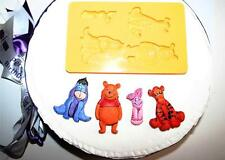 silicone MOULD mold WINNIE THE POOH  fondant sugarpaste  TIGGER EEYORE PIGLET