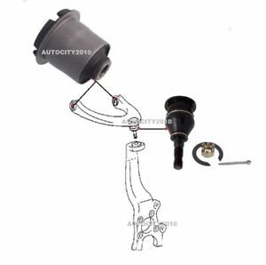 FOR LEXUS IS300H 2.5i HYBRID 2013-18 FRONT TOP ARM BUSH + BALL JOINT KIT