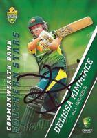✺Signed✺ 2015 2016 AUSTRALIAN Cricket Card DELISSA KIMMINCE Big Bash League