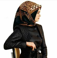 ARMINE twil Seidentuch Kopftuch Schal Scarf Tuch Hijab 100% Seide Silk leopard