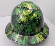 Hard Hat FULL BRIM custom hydro dipped , OSHA approved GREEN HULK NEW KILLER