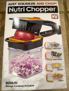 Nutri Chopper Squeeze And Chop Food Prepper w/ Storage Container