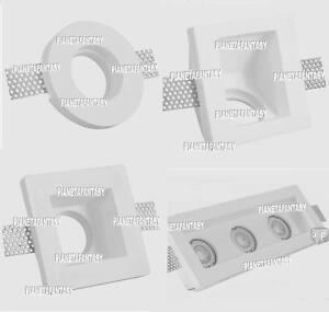 Portafaretto in Gesso Alfa da Incasso bianco X lampade led GU10 Controsoffitti