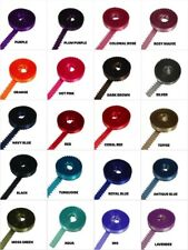 """Roll-up 3/8"""" PICOT Feathered DOUBLE FACE SATIN POLYESTER Ribbon CHOOSE YARDS"""