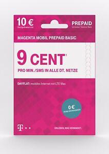 Telekom Magenta Mobil Prepaid Basic✔ 9 Cent Xtra Call✔ Deutsche Telekom D1 Xtra