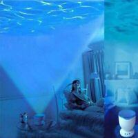 Night Light Ocean Projector Lamp Blue Sea Waves Bedroom Relaxing Music Speaker