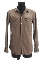 *** 7 For All Mankind *** Men's Grey Washed long sleeved Casual Shirt Size M