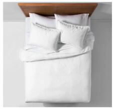 Opalhouse Garment Washed Embroidered Duvet Cover Set White - Twin/Twin XL