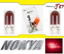 Nokya Light 194 Red 5W Nok5221 Two Bulb License Plate Tag Upgrade Fit JDM