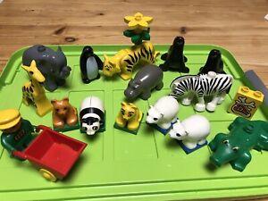 Lego Duplo Zoo - alt - viele Tiere