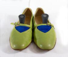 Authentic SALVATORE FERRAGAMO womens flats shoes lemon green size EU 39 / US 8