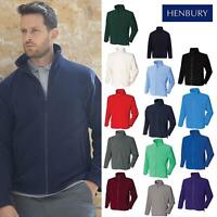 Henbury Men's Microfleece Jacket H850 - Adults Casual Warm Fleece Winterwear