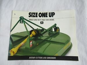 1988 John Deere rotary cutter and shredders brochure