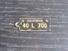 1941 California BFG BF Goodrich License Plate DAV Style Tag Key Fob RARE CA Old