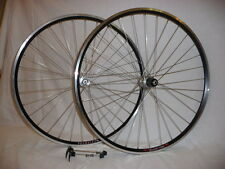 Velocity Major Tom CX or Road alloy tubular wheels.