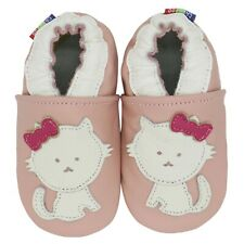 carozoo cat pink 6-12m soft sole leather baby shoes