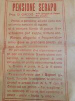 ANNI 1930 GAETA - PENSIONE SERAPO - antica Locandina 2x17 pubblicità DI CIACCIO
