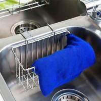 Kitchen Stainless Steel Sponge Holder Sink Caddy Brush Soap Drainer Rack Tool