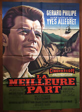 affiche originale LA MEILLEURE PART - ALLEGRET - GÉRARD PHILIPE -Mascii 120x160