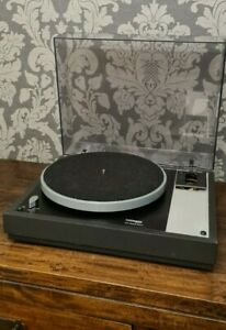 THORENS TD160B MKII TURNTABLE AND SME ARMBOARD IN GOOD CONDITION WITH LID