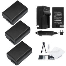 3x NP-FW50 Battery + Charger for Sony Alpha SLT-A33 A37 A55