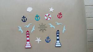 Lot die cuts/découpes mer scrapbooking/album photo/loisirs créatifs/décoration