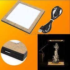 Acrylic Model Warm Light Board For Display Show Box Case With USB Wire 5V DC