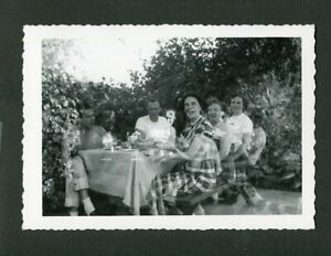 Family Ghosts Picnic Unusual Double Exposure Vintage Photo Mistake 470058