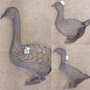 Wandbild Wanddeko Metall Bild Balkon Terasse Figur Seepferd Gans Ente Fisch