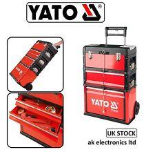 Yato Professional 3 Drawer Garage Storage Rolling Mobile Trolley Tool Box Case