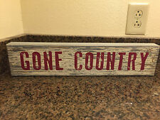 """Gone country wooden box sign home decor 18"""""""