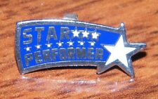 """Star Performer 1"""" Inch Small Blue Pin-Back Pin For Student (Pin / Brooch / Lapel"""