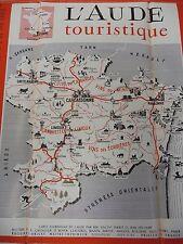 Visit Aude Carcassonne Languedoc Vintage Brochure French English German Spanish