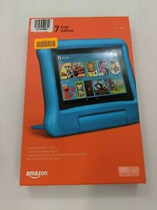 """New In Box Amazon Fire 7 Kids Edition 7"""" 16GB W/ Blue Case - AW1744"""