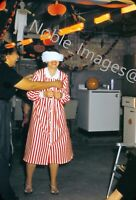 1950s Blindfold Game Adult Halloween Party Chicago Red-Border Kodachrome Slide
