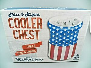 Inflatable Cooler Chest Stars and Stripes Chills Food & Drinks American Flag NEW