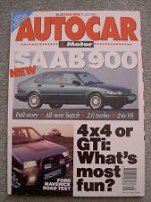 Autocar (21 July 1993) Saab 900, Escort Cosworth, Maverick, Cherokee, Alfa 164