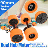 600W 24V/36V Brushless Dual Hub Motor Drive For Electric Longboard