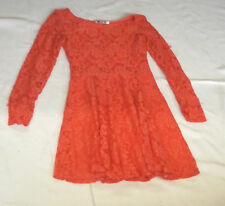 BNWT S CORAL ORANGE LACE COCKTAIL PARTY SKATER DRESS WAL G AT TOPSHOP
