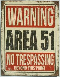 Area 51 Alien Warnung Kein Zutritt Metall Schild original aus USA