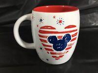 Starbucks Disney Parks Mickey Americana Heart Mermaid 12 oz Cup Mug 4th July