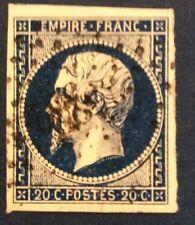 France N° 14Ab 20 C Bleu Noir TTB Cote 40€