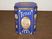 "VINTAGE KITCHEN 7 1/4"" HIGH 1837-1987  TETLEY TEA MADE IN ENGLAND TIN CAN *EMPTY"