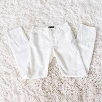 Lafayette 148 New York  Waxed Denim Thompson Slim Jeans white Size 4