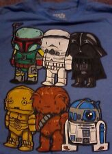 STAR WARS LEGOS FUNK0 TYPE CHARACTERS T SHIRT FIFTH SUN BRAND SIZE MEDIUM VGUC