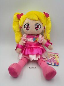 "Fresh PreCure Pretty Cure B2805  PEACH Bandai 2009 USED Plush 10"" Toy Doll Japan"