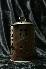 Vintage Rustic Metal Country Farmhouse Candle Hanging Lantern Stars Primitive