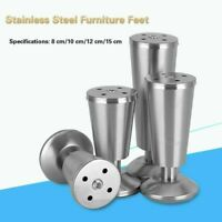 Stainless Steel Furniture Feet Adjustable Cabinets Sofa Chairs Legs High Quality